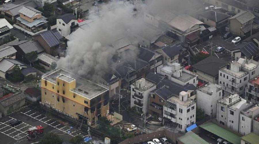 જાપાનના જગપ્રસિદ્વ ક્યોટો એનિમેશન સ્ટૂડિયોને માથાફરેલ શખ્સે ચાંપી આગ, 33 લોકો બળીને ભડથું