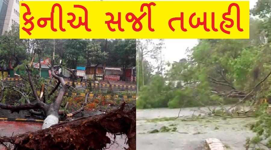 મહાવિનાશક વાવાઝોડું ફેની ત્રાટક્યું, 6નાં મોત, પુરી અને ગોપાલપુરમાં પ્રચંડ પુર,ભારે તારાજી