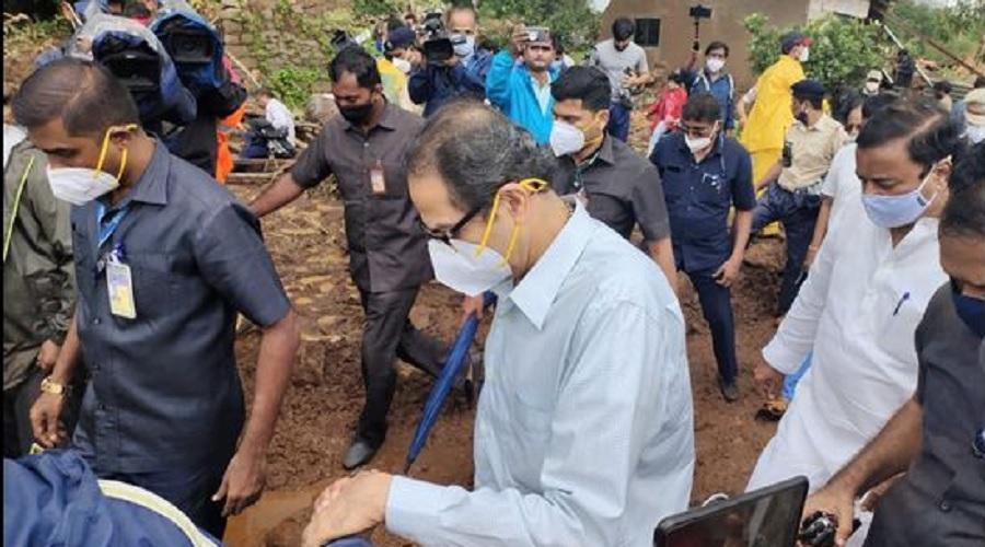 મહારાષ્ટ્રમાં ભારે વરસાદે સર્જી ભારે તારાજીઃ 136ના મોત, CM ઠાકરે પહોંચ્યા રાયગઢ